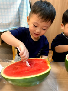watermelon cooking at preschool