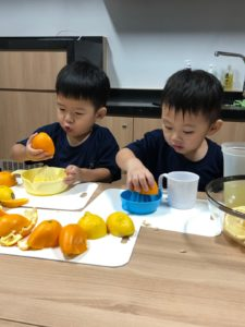 cooking at preschool orange juice